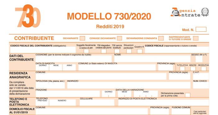 NOVITA': Campagna fiscale 2020 – Redditi 2019