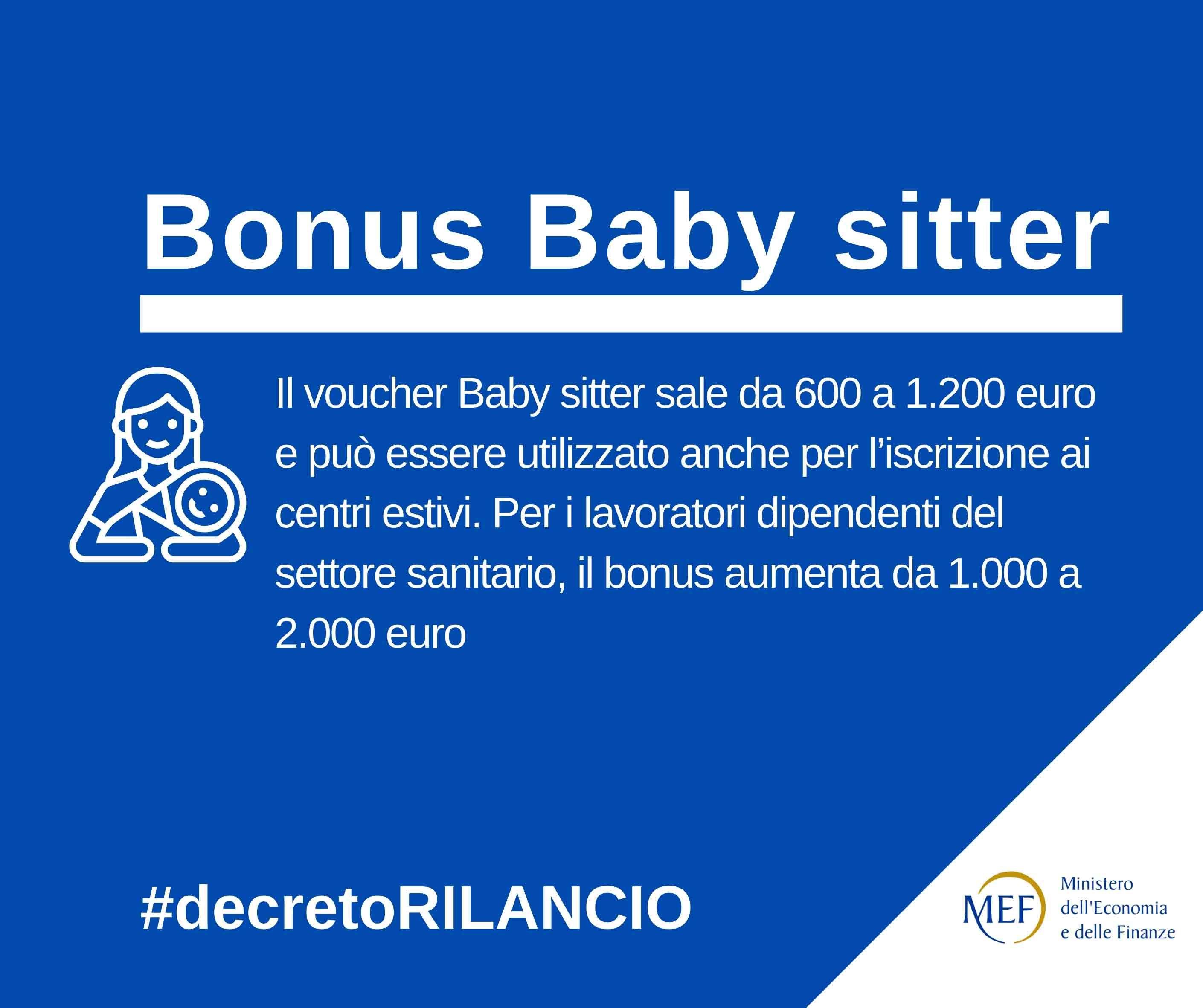 DECRETO RILANCIO: i principali interventi a favore delle famiglie e dei consumatori – Il Bonus Baby Sitter
